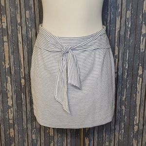 Skies Are Blue Striped Skirt - Sz S